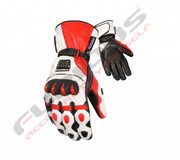 Motorbike Leather Gloves-Pro Racing Gloves