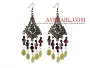 Garnet Olive Earrings