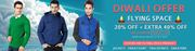 Diwali Bumper Sale:Get The 20% + Extra 40% Off On Flying Space Product