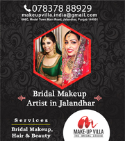 BEST BRIDAL MAKEUP ARTIST IN JALANDHAR PUNJAB.