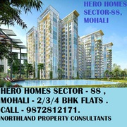 2/3 bhk flats for sale in hero homes sector 88 mohali. booking open