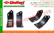 Tractor cultivators blades shovels,  rotavator blades,  tines in india