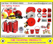 Fire safety products,  Fire fighting equipments,  Fire extinguishers
