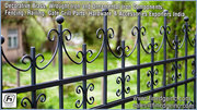Decorative wrought iron and ornamental iron components,  fencing India