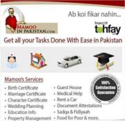 Nadra Birth Certificate,  WES attestation – MamooInPakistan