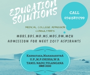 Direct MBBS, BDS, MD, MS Admission For NEET Eligible Students in Karnataka, Maharashtra, U.P., M.P., Rajsthan, Orissa.