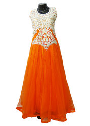 Women Fashionable Net Gown for Evening Party