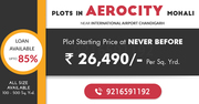 Plots in Aerocity Mohali book at 9216591192