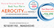 PLOTS IN AEROCITY Road MOHALI call @9216591192