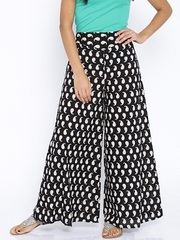 Cotton Mango Printed Palazzo Pant at ShoppyZip