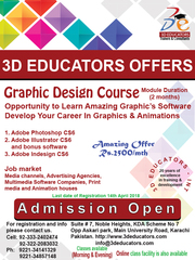 Graphics and Animation Program in 2500 Per Month