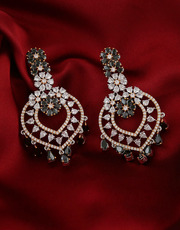 Dazzling American Diamond Earrings Online at Anuradha Art Jewellery