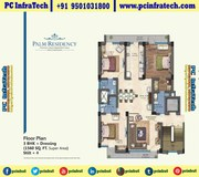 Manohar Singh Palm Residency 3BHK floors Chandigarh 95O1O318OO