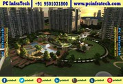 Jlpl falcon view 3bhk ready to move apartments at Mohali 95O1O318OO