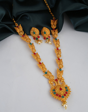 Shop for Long Necklace and Haram designs at Anuradha Art Jewellery.