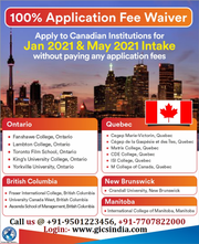 Apply for Canadian universities and colleges for Jan & May 2021 intake