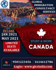 Apply study visa in Canada for Jan & May 2021 intake.