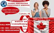 Enroll yourself for Canada PR with us till month end & get 50% waiver