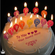 Get a cool happy birthday cake with name. Make yours or your friend's